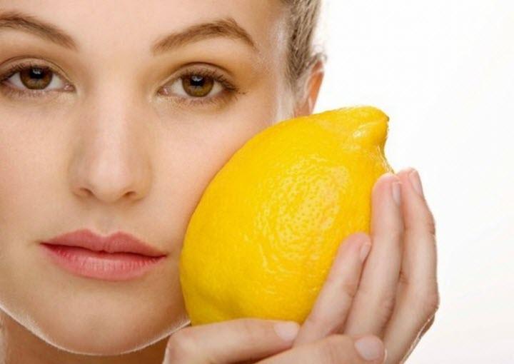 Лимон против веснушек