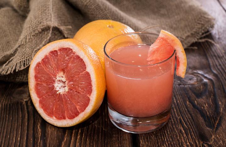Плоды и сок грейпфрута