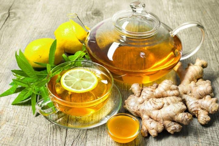 Лимонно-имбирный напиток с медом
